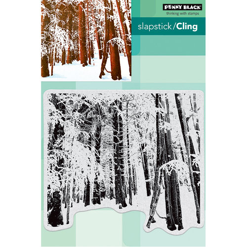 Penny Black - Christmas - Cling Mounted Rubber Stamps - Snow Forest
