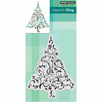 Penny Black - Christmas - Cling Mounted Rubber Stamps - Flourishing Tree