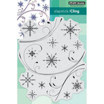 Penny Black - Christmas - Cling Mounted Rubber Stamps - Snowflake Medley