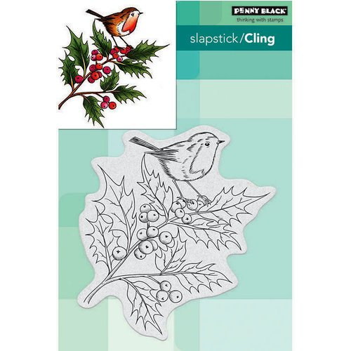 Penny Black - Christmas - Cling Mounted Rubber Stamps - Cheerful Christmas