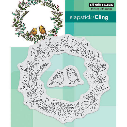 Penny Black - Christmas - Cling Mounted Rubber Stamps - Winter Chip