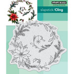 Penny Black - Christmas - Cling Mounted Rubber Stamps - Poinsettia Spiral