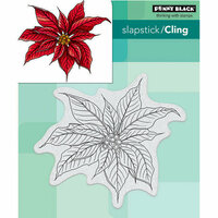 Penny Black - Christmas - Cling Mounted Rubber Stamps - Christmas Poinsettia