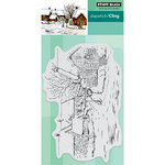 Penny Black - Christmas - Cling Mounted Rubber Stamps - Tranquil Hamlet