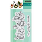 Penny Black - Christmas - Cling Mounted Rubber Stamps - Holly Jolly Critters