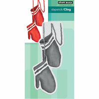 Penny Black - Christmas - Cling Mounted Rubber Stamps - Christmas Mittens