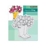 Penny Black - Timeless Collection - Cling Mounted Rubber Stamps - Blooming Boots