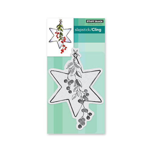 Penny Black - Christmas - Cling Mounted Rubber Stamps - Berry Star