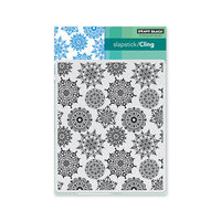 Penny Black - Christmas - First Snow Collection - Cling Mounted Rubber Stamps - Snowflake Pattern