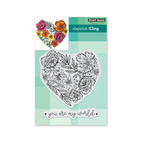 Penny Black - Share The Love Collection - Cling Mounted Rubber Stamps - Passionate Blooms