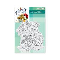 Penny Black - Secret Garden Collection - Cling Mounted Rubber Stamps - Alluring Arrangement