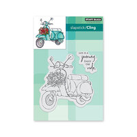 Penny Black - Secret Garden Collection - Cling Mounted Rubber Stamps - The Ride