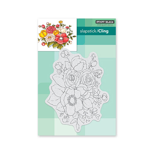 Penny Black - Secret Garden Collection - Cling Mounted Rubber Stamps - Unforgettable
