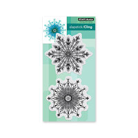 Penny Black - Winter Wishes Collection - Cling Mounted Rubber Stamps - Fab Flakes
