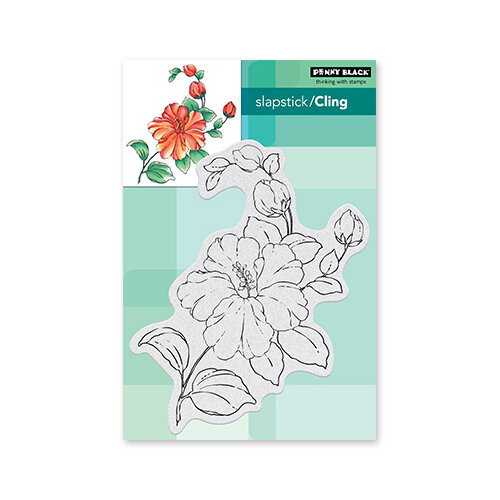 Penny Black - Delight Collection - Cling Mounted Rubber Stamps - Florescence