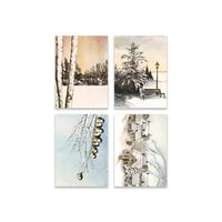 Penny Black - Home For Christmas Collection - 3.25 x 4.5 Premium Cardstock Pack - Snowfall Serenity