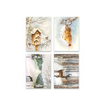 Penny Black - Home For Christmas Collection - 3.25 x 4.5 Premium Cardstock Pack - Icy Winds