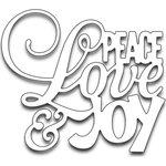 Penny Black - Creative Dies - Peace Love and Joy