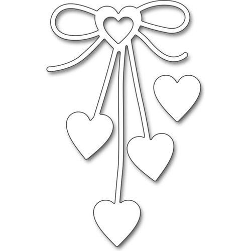 Penny Black Heart Bow Creative Dies