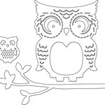 Penny Black - Creative Dies - Mommy and Me Owls