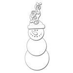Penny Black - Christmas - Creative Dies - Snowman Smile