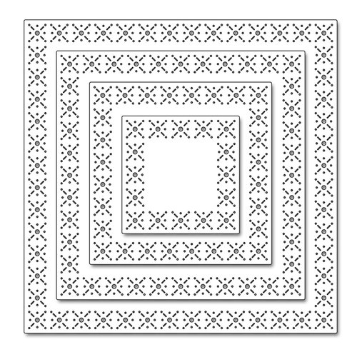 Penny Black - Christmas - Creative Dies - Snowflake Stitch Frames