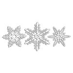 Penny Black - Peaceful Winter Collection - Christmas - Creative Dies - Snowflakes