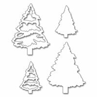 Penny Black - Peaceful Winter Collection - Christmas - Creative Dies - Evergreen Tree