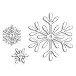 Penny Black - Christmas - Creative Dies - 3 Snowflakes