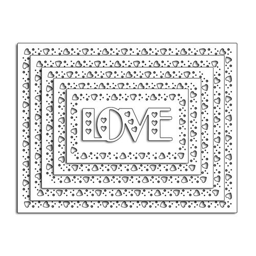 Penny Black - Happy Heart Day - Creative Dies - Lovely Border