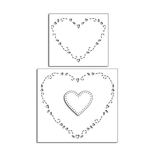 Penny Black - Happy Heart Day - Creative Dies - Hearts Around