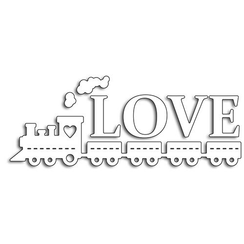 Penny Black - Happy Heart Day - Creative Dies - Love Train