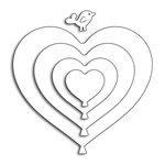 Penny Black - Happy Heart Day - Creative Dies - Hearts Balloons