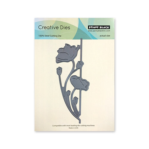 Penny Black - Timeless Collection - Creative Dies - Poppy Edger