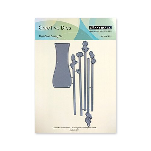 Penny Black - Timeless Collection - Creative Dies - Tall Flowers