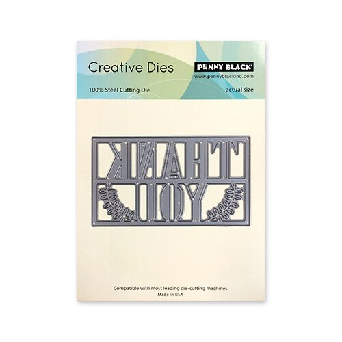 Penny Black - Timeless Collection - Creative Dies - Framed Thanks