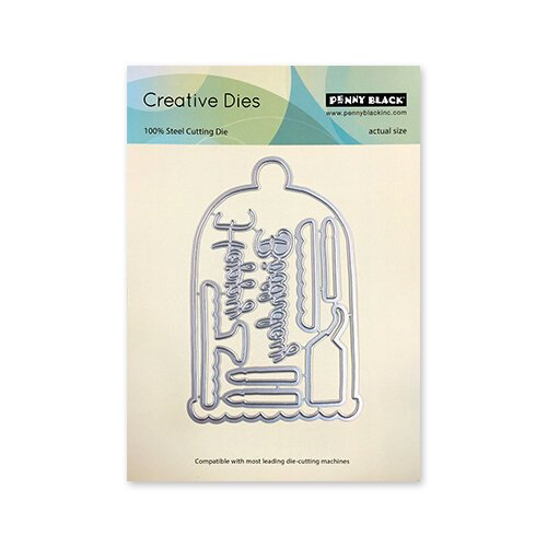 Penny Black - Timeless Collection - Creative Dies - Lovely Birthday Cut Out
