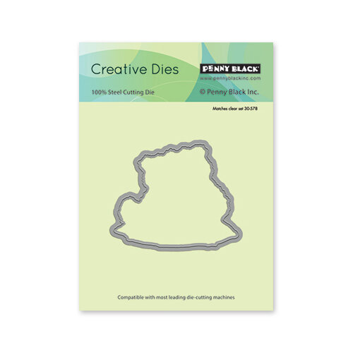 Penny Black - Creative Dies - Bear Cuddle Cut Out