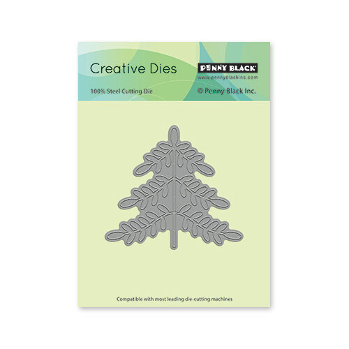 Penny Black - Christmas - First Snow Collection - Creative Dies - Folk Art Xmas Tree