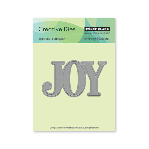 Penny Black - Christmas - First Snow Collection - Creative Dies - Jumbo Joy