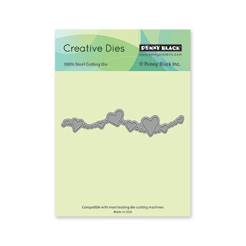 Penny Black - Share The Love Collection - Creative Dies - Heart Border
