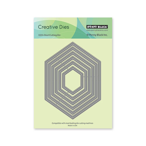 Penny Black - Creative Dies - Hexagon Frames