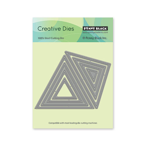 Penny Black - Delight Collection - Dies - Triangles