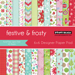 Penny Black - Christmas - 6 x 6 Paper Pad - Festive and Frosty