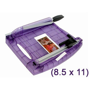 Purple Cows Incorporated - 2 in 1 Paper Trimmer- 8.5x11, CLEARANCE