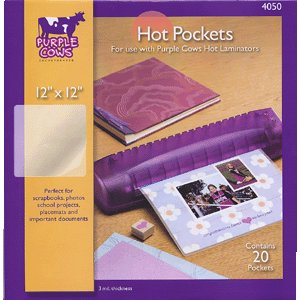 Purple Cows Incorporated - Hot Pockets - 12x12 - Laminator Refill Pockets