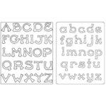 Coluzzle Alphabet Template Set - Camelot