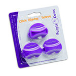 Purple Cows Incorporated - Click Blades 3 Pack - Wave - Works With Models 1030, 1040, 1040c, 1050, 1060, and 6040