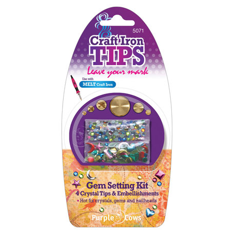Purple Cows Incorporated - Craft Iron Tips - Gem Sewing Kit