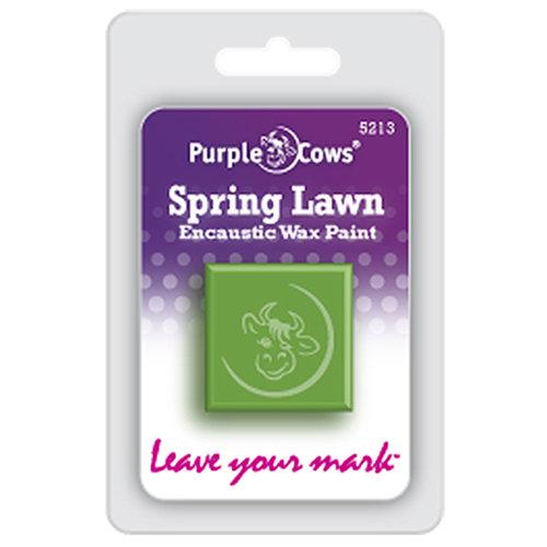 Purple Cows Incorporated - Encaustic Paint Cubes - Spring Lawn